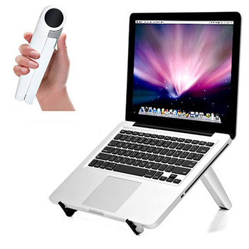 folding laptop stand and holder with stretching legs and adjusting angles for 11-16 inch laptops