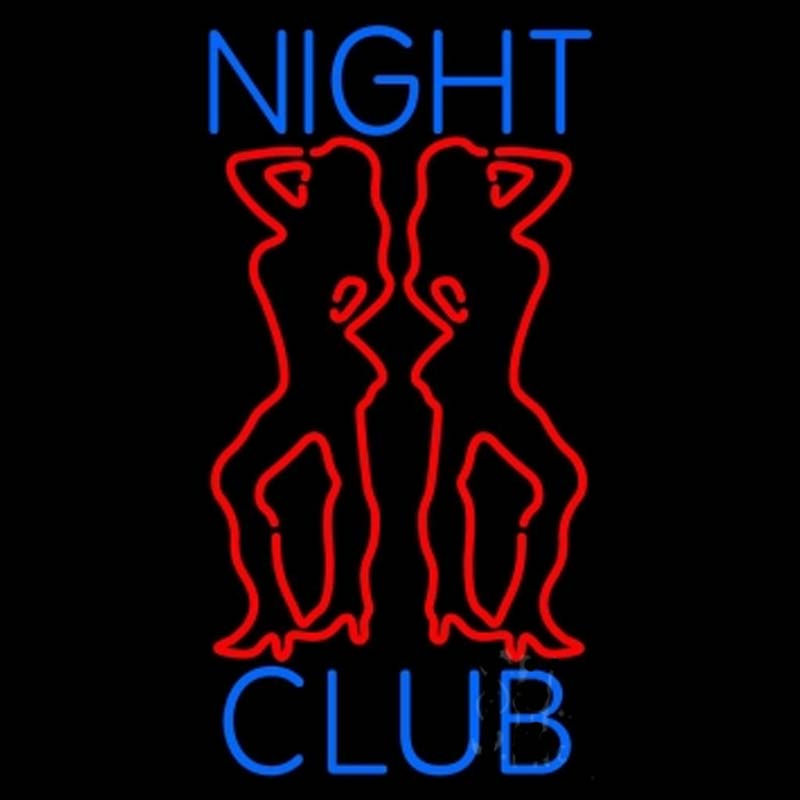 Neon Sign Forstripper Auditions 24 Hrs Red Night Club -3852