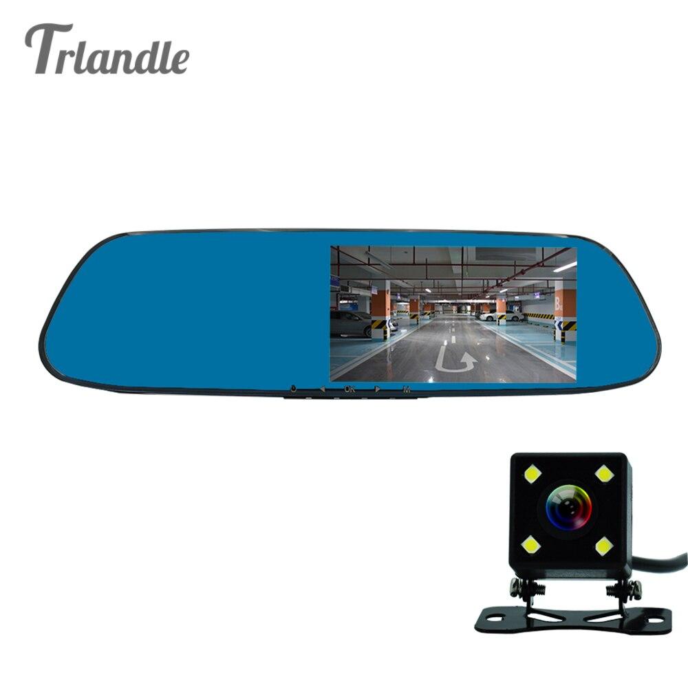 5 inch Car DVR amera Mirror with ADAS LDWS Full <font><b>HD</b></font> 1080P Dual Lens Rear view Mirror Dual cam simultaneously recording