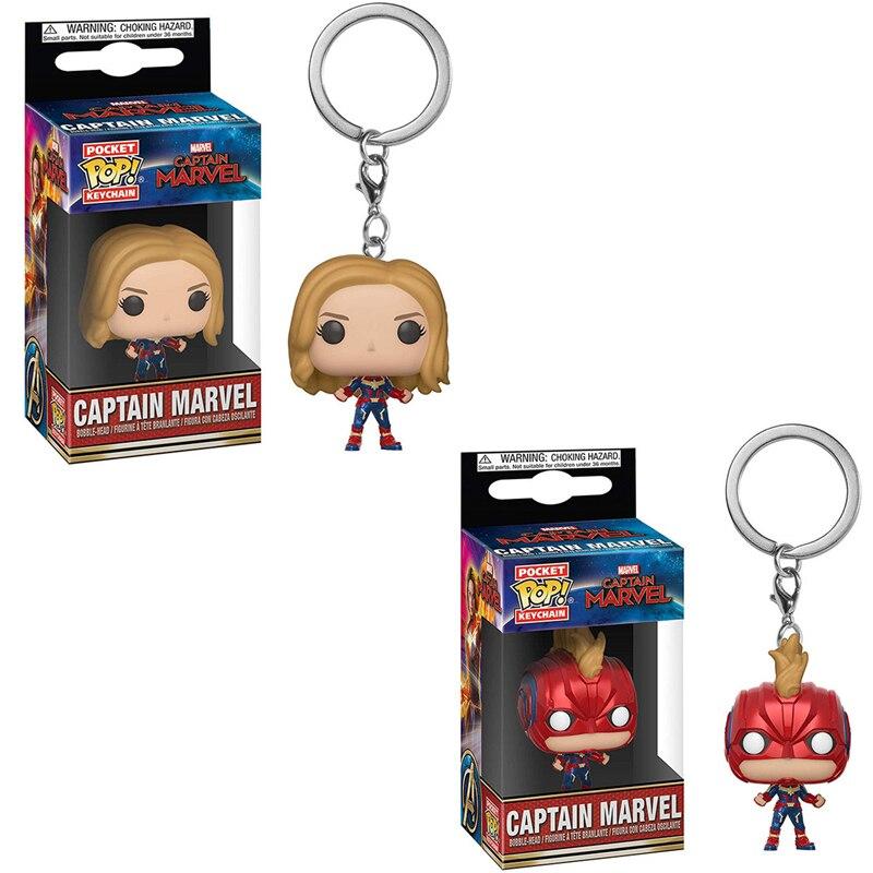 Captain Marvel Funko Pocket Pop Keychain Captain Marvel Bobble-Head