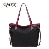 SGARR Oxford Bolsa Feminina Bolsa de Couro de Qualidade de Luxo Famosa Marca Mulheres Crossbody Bag Para Menina Da Escola Grande Saco Preto Bolsa Venda
