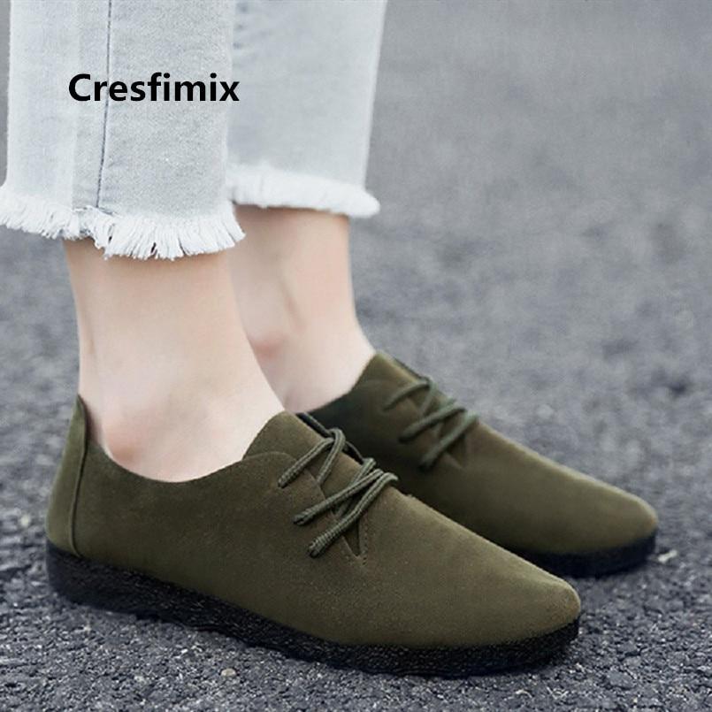 Armée De Mujer Zapatos Chaussures Cresfimix Vert B3563 A Confortable Brun Rue Doux Planos Mignon b c Femmes Lady Noir pBOBdtnxw