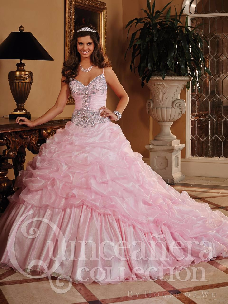 New-Arrival-Pink-2016-Quinceanera-Dresses-Ball-Gowns-Fashionable-Crystal-Ruffle-Vestidos-De-Quinceanera-Sweet-16