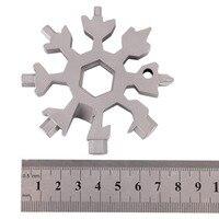 ножи открытый тактический карманный цепочка для ключей карабин гаечный ключ кольцо снежинка многофункциональная карта лагерь оборудование комплект выживания