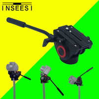 INSEESI Alüminyum Alaşım Video Kamera Tripod Eylem Sıvı Sürükle Pan Başkanı Için Canon Nikon Sony DSLR Kamera Kamera Çekim Film