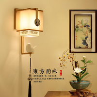New Chinese Modern Minimalist Antique Bedroom Bedside Lamp Wall Lamp Chinese Wind Corridor Lamp Iron Living