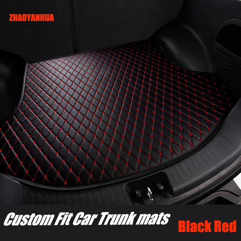 ZHAOYANHUA Car trunk mats for Chevrolet Sonic Aveo waterproof 5D car-styling all weathe rugs accessories liners carpet (2011-now