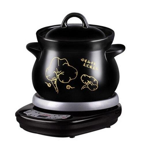 220 В 4L автоматическая керамические elecric горшок здоровья горшок воды тушить 8 часов назначение Кук медицина суп/кашу толще фарфор