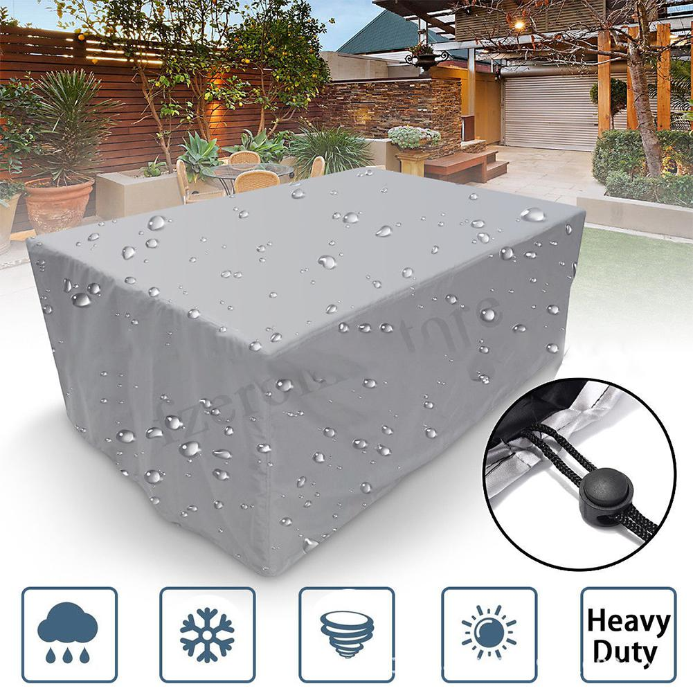 Waterproof Garden Patio Dust Cover For Outdoor Furniture Rattan Table Cube Seat Table Chair Dust Proof Cover Beach Protector
