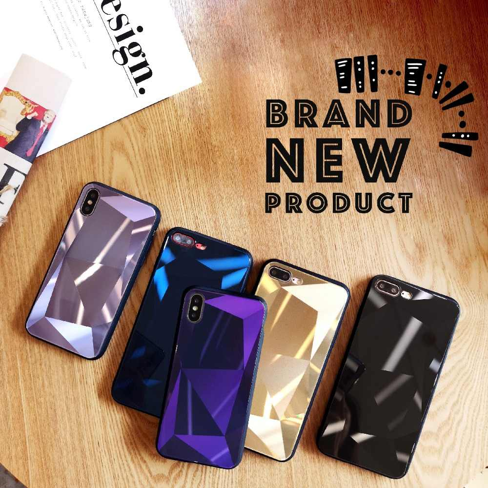 bd4638642d Luxury 6D Aurora Tempered Glass Case For iPhone X Case For iPhone 7 6 Plus  6s