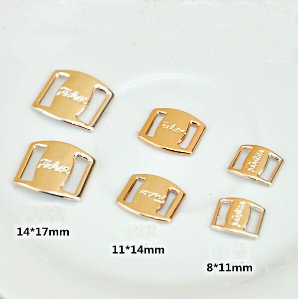 20pcs/lot Korean hair accessories diy handmade rose gold ribbon to wear plastic buckle 8 characters buckle decorative patch 20pcs lot hs20n03da to 252