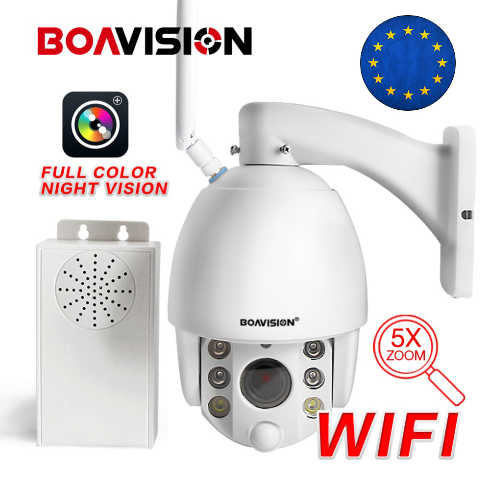 1080P Wireless PTZ IP Camera WI FI 5X 10X Zoom Radar Detect Full Color Night View