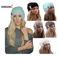 Женщины Вязание Hat Зимние Шапки для Женщин Подлинные Шляпы Ручной Трикотажные Теплую Шапку Женский Высокой Упругой Крышки Шапочки Головные Уборы Осень