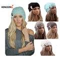 Las mujeres Que Hacen Punto Sombrero Sombreros de Invierno para Las Mujeres Genuino Sombrero Hecho Punto Sombrero Caliente Mujeres de Alta Elástica Tapas Gorros sombrero de Otoño