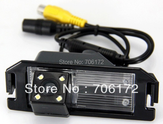4 LED night vision Car rearview camera rear view reverse backup for hyundai solaris (Verna) hatchback Free shipping