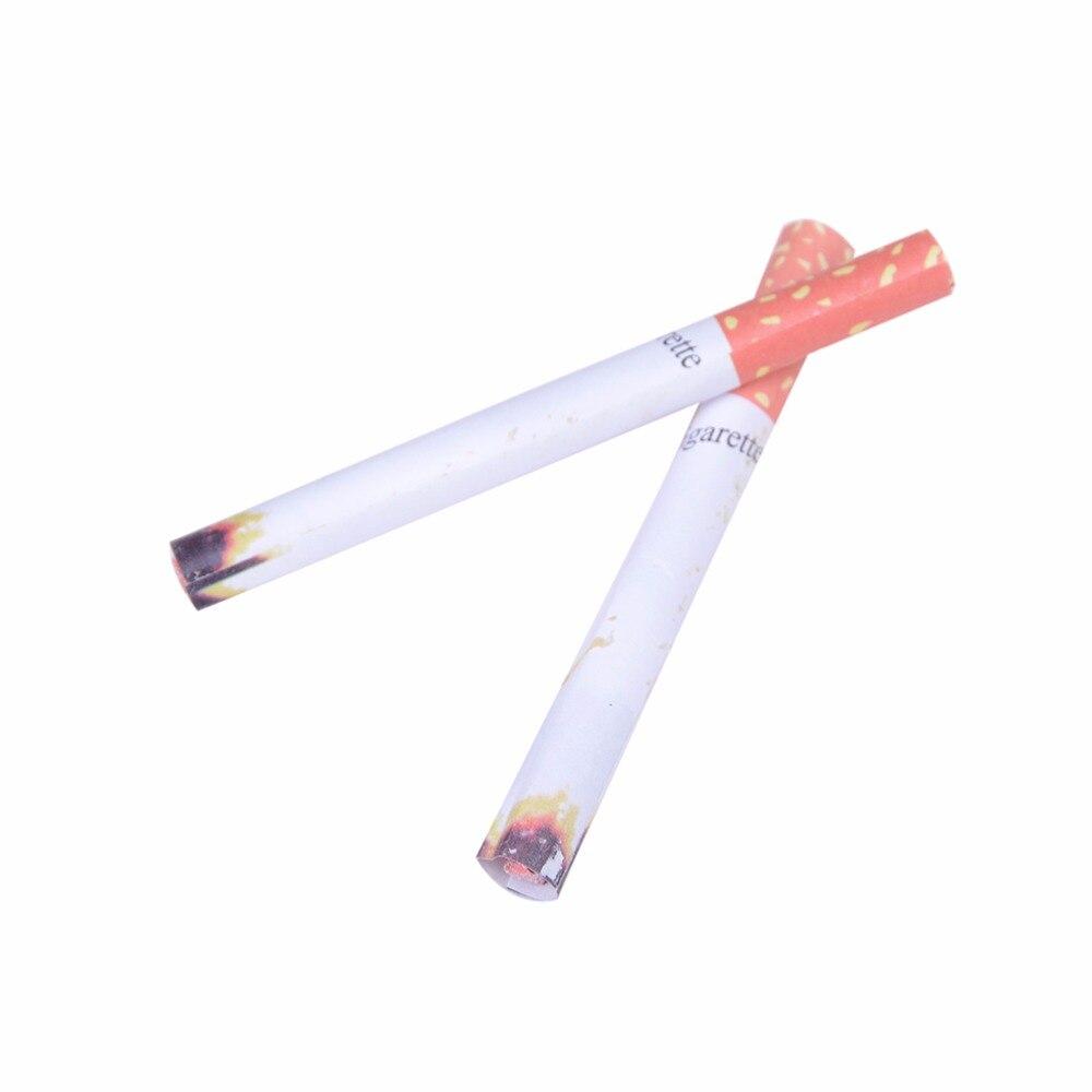 2 Stks Prank Goocheltruc Nep Sigaretten Fags Rook Effect Lit End Fancy Gift Voor Koop Grappig Speelgoed Bananasplit Novelty Joke Het Verlichten Van Reuma