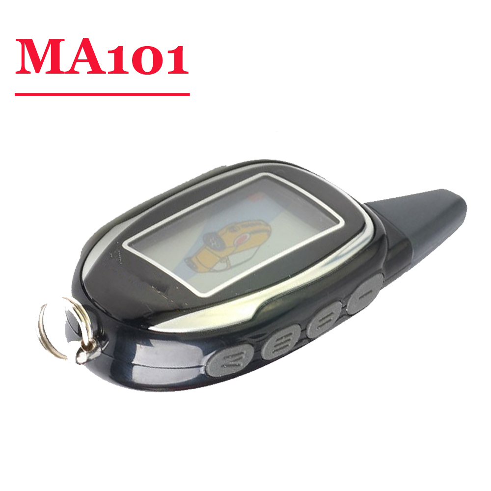(1 Piece) Two Way Car Alarm System English Version LCD Remote For  Magicar 101 100 Scher Khan