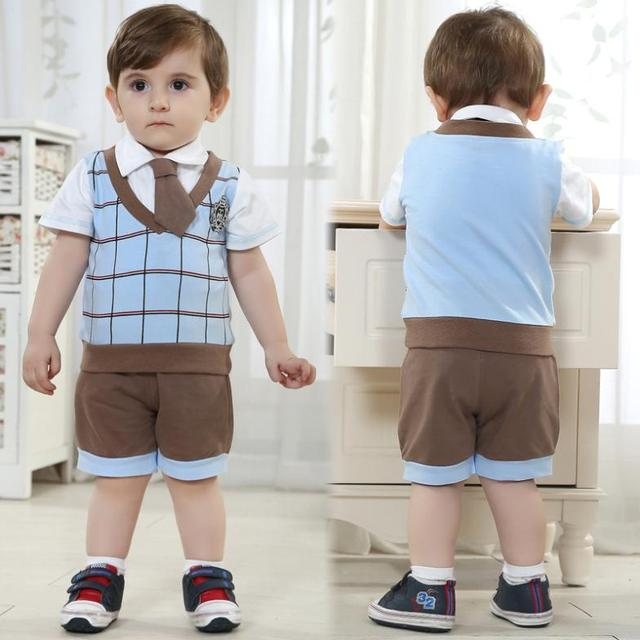 US $14 2 |children outerwear brand high quality plaid shirt+trousers+tie  baby boy 3 pieces children clothing manufacturers china-in Clothing Sets  from