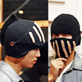 Fashion Keep Warm Men Unisex Roman Knight Helmet Caps Cool Handmade Knit Ski Warm Winter Hats Gift Funny Party Ski Mask Beanies