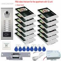 Rfid Cards Unlock Video Doorbell 4 3 Color Lcd Doorphones On The Front Door With Electric