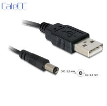 5V USB 2.0 A Type Male To 5.5 x 2.1mm DC power Plug Barrel Contor adpter Black cable(China)