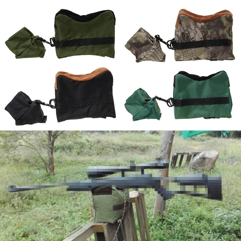 Front&Rear Bag Hunting Airsoft Rifle Holder Outdoor  Sandbag without Sand Sniper Target Stand Accessories