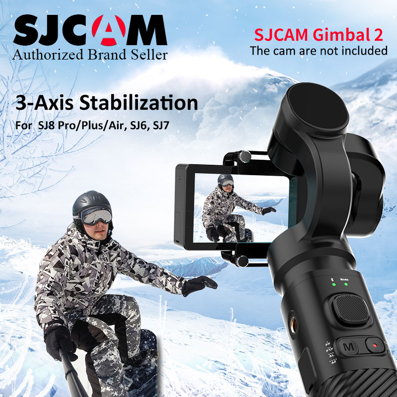 SJCAM SJ-Gimbal 2 Smooth 3-Axis Handheld Gimbal Stabilizer Bluetooth Control for SJCAM SJ8Pro/plus/air sj7 sj6 legend Action Cam цена