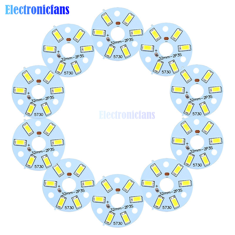 10PCS 3W 5730 White LED Emitting Diode SMD Highlight Lamp Panel LED Board SMD Light Board Led Lamp Panel
