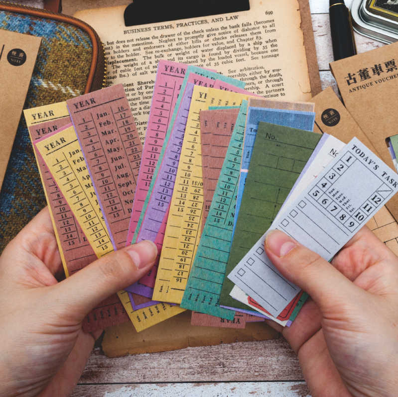 1 set/lot Memo Pads Sticky Notes Antique ticket series Paper diary Scrapbooking Stickers Office School stationery Notepad