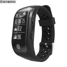 SENBONO S908 S908S Bluetooth GPS Tracker צמיד IP68 עמיד למים חכם צמיד קצב לב צג כושר גשש חכם להקה