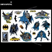 SHNAPIGN Dark Knight Batman Criança Tatuagem Temporária Body Art Tattoo Flash Adesivos 17*10 cm À Prova D' Água Tatoo Henna Hair Styling adesivo
