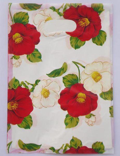 Hot-selling 100pcs/lot 30*40cm Pretty flowers Pattern Plastic Gift <font><b>Bag</b></font> <font><b>Shopping</b></font> <font><b>Bag</b></font> Wholesale Lot free shipping 015040001