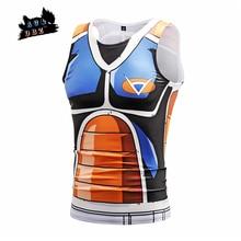 f420aba4eaf14 AC & DBZ nouvel été hommes Anime Cosplay Top Dressing Super Saiyan Tank  hauts hommes mode impression 3D t-shirt sans manches