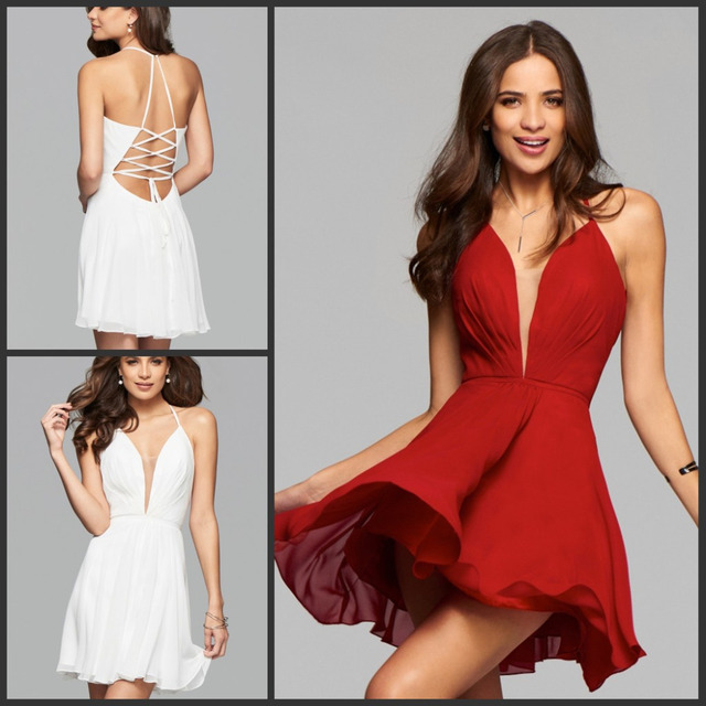 Deep V Backless Dress