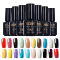 ROSALIND Black Bottle 7ML Pure Color 58 Colors 01-30 Gel Nail Polish Nail Art Nail Gel Polish UV Gel Colorful Gel Varnish