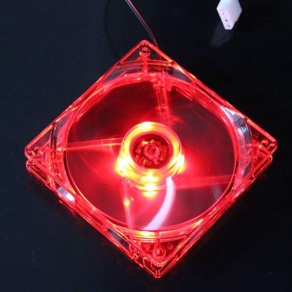 Охлаждающий вентилятор, Компьютерный Вентилятор Quad 4, светодиодный светильник 120 мм, чехол для компьютера, охлаждающий вентилятор, модный тихий Molex коннектор, легкий светодиодный вентилятор 12 В - Цвет лезвия: Red
