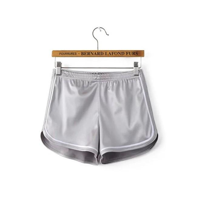HTB1H8cCMVXXXXXKapXXq6xXFXXXn - Glossy Shorts Slim Sexy Short Cotton Elastic High Waist Shorts For Women PTC 181