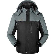 M-9XL Big Size Men Fleece Waterproof Thick Jacket Autumn Winter Male Casual Thicken Warm Outwear Parkas Varsity Hooded Coat CF17