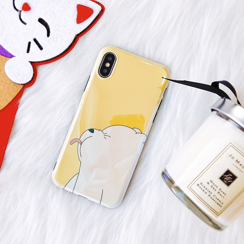 Blue Ray Soft TPU Case For iPhone X 7 8 Cute Cartoon Bear Silicon Ultra Slim Phone Case For iPhone 6 7 8 Plus Back Cover
