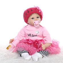 With Handmade Sweater Hat 55cm About 22inch Reborn Baby Doll Alive Bebes Benecas For Sale Hot