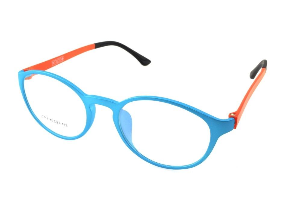 designer orange blue eyeglasses frame optical