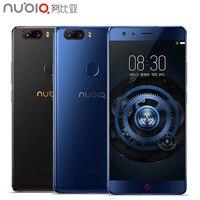 オリジナルヌビアz17携帯電話5.5インチ画面8ギガバイトram 128ギガバイトromキンギョソウ835オクタコアのandroid 7.1 os daulカメラスマートフォン