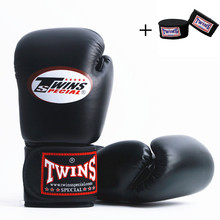 Men Women Adult Kids 10OZ 12OZ 14OZ Twins MMA Boxing Gloves  PU Leather Karate Mauy Kick + Bandage F