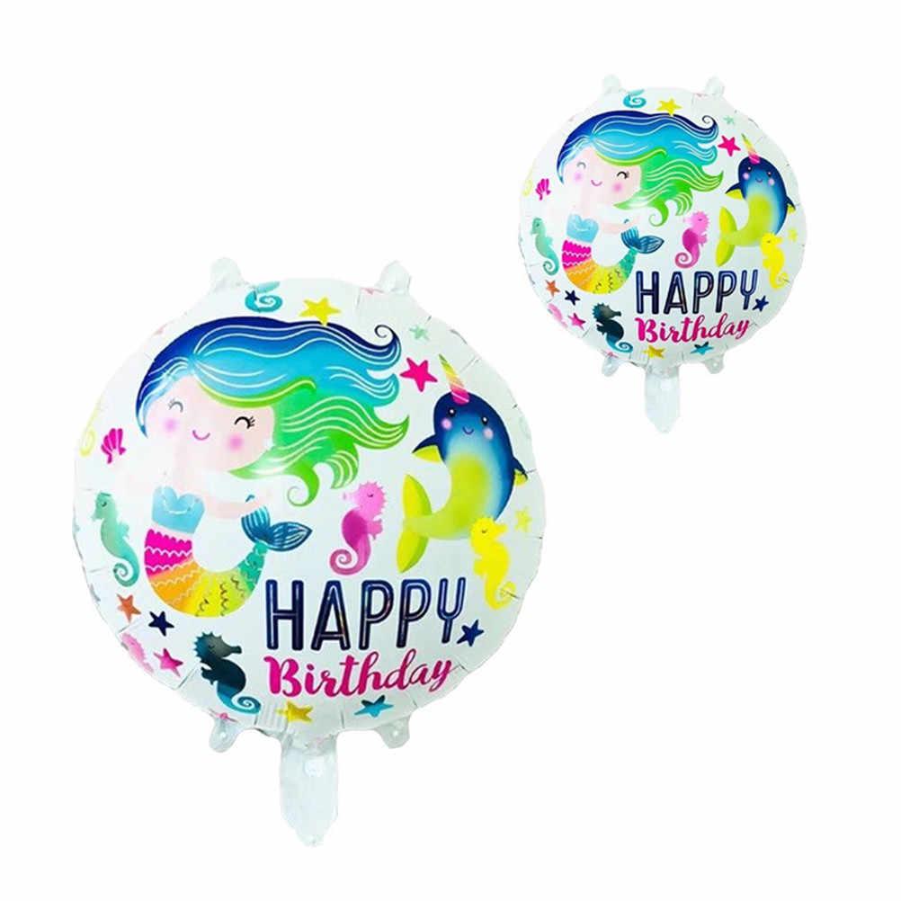 Pequena Sereia Balão Decoração Do Partido Suprimentos Festival Presentes 1 PCS Sereia Balões Folha Princesa Balão de Aniversário