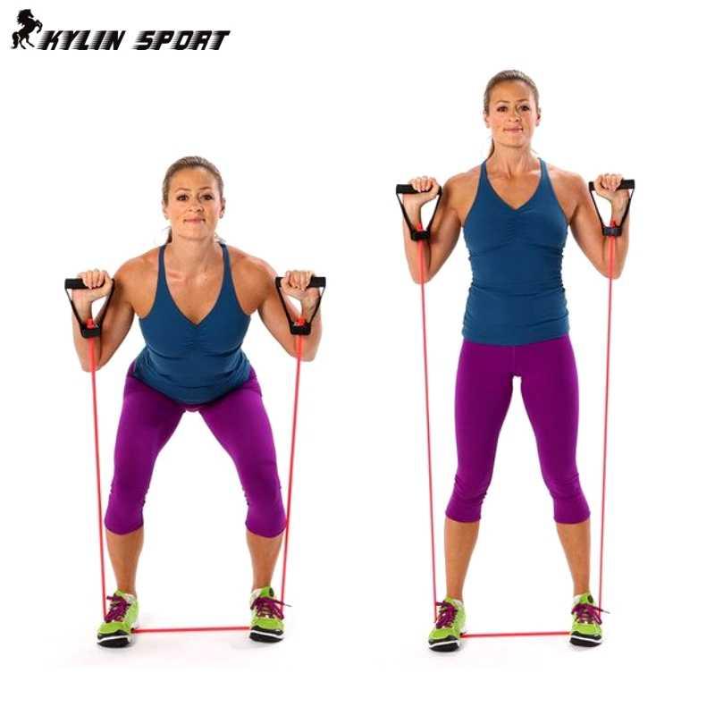 Ciągnąć linę elastyczny zestaw lin wielofunkcyjny sprzęt treningowy gumy pas taśmowy wyposażenie siłowni