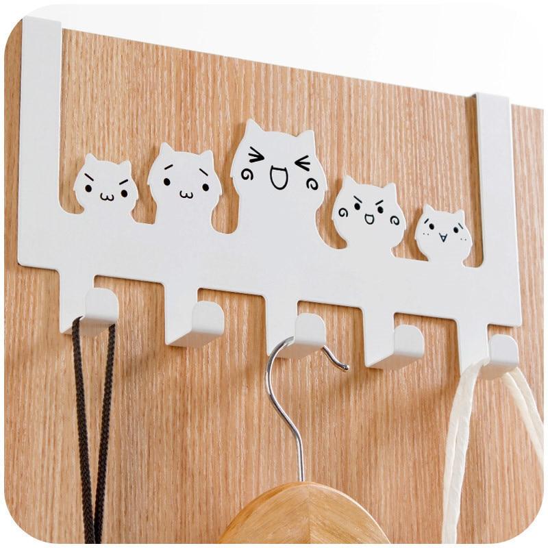 Cartoon Brushed Stainless Steel Over Door Hooks Hanger Kitchen Cabinet Draw  Towel Clothes Pothook In Hooks U0026 Rails From Home U0026 Garden On Aliexpress.com  ...