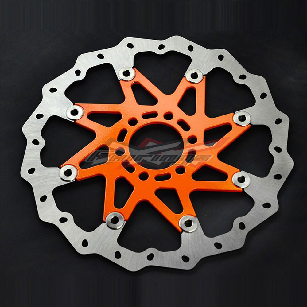 Orange Aluminium WAVE BRAKE DISC FRONT Fit for KTM 125 200 390 ABS DUKE 2013-2016 for ktm 390 200 125 duke 2012 2015 2013 2014 motorcycle accessories rear wheel brake disc rotor 230mm stainless steel