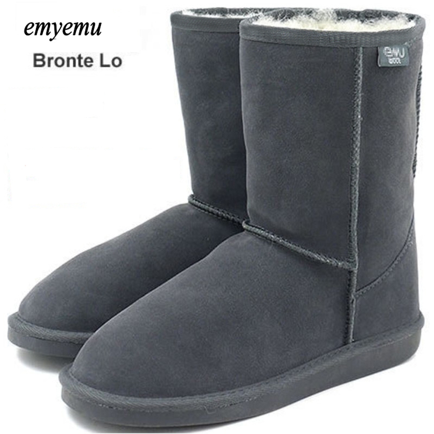 EMYEMU Bronte LO snow boots 100 merino Wool inner Cow Suede Genuine Leather outer Snow mouton