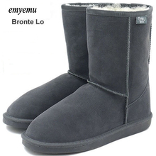 EMYEMU Bronte LO snow boots 100% merino Wool inner  Cow-Suede Genuine Leather outer Snow mouton Boots (W20002)