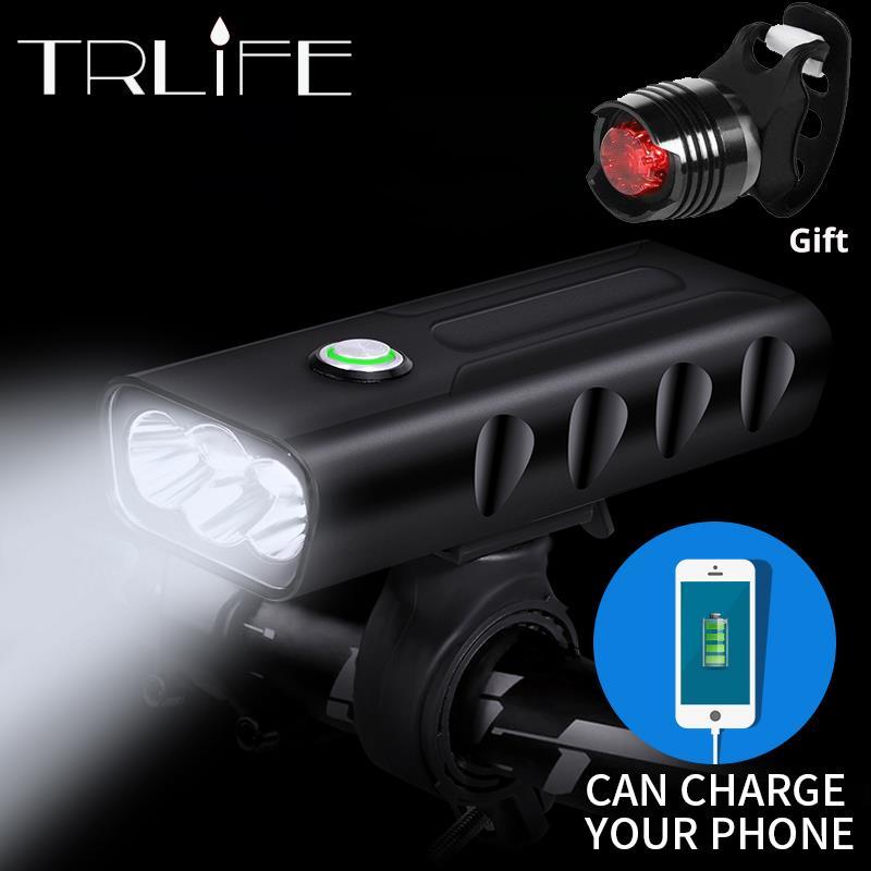 15000Lum 2/3 * L2/T6 USB Aufladbare Eingebaute 5200 mAh 3 Modi Fahrrad Licht Wasserdichte Scheinwerfer Fahrrad Zubehör Mit rücklicht